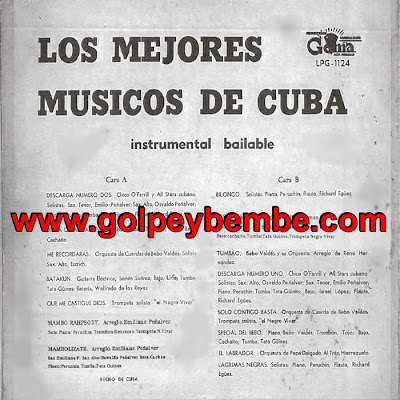 Los Mejores Musicos de Cuba - Instrumental Bailable Back