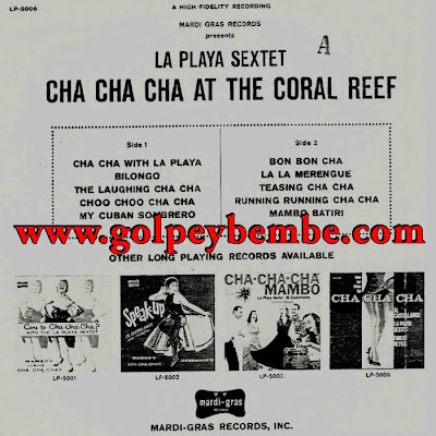 La Playa Sextete - Cha Cha Cha at the Coral Reef Back