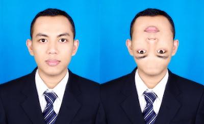 Pertama-tama buka sebuah file foto korban yang akan anda edit wajahnya