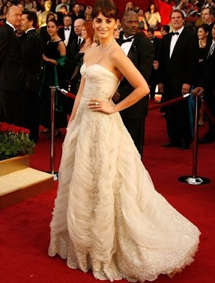 Penelope Cruz Oscar Dress. I've loved Cruz's last few