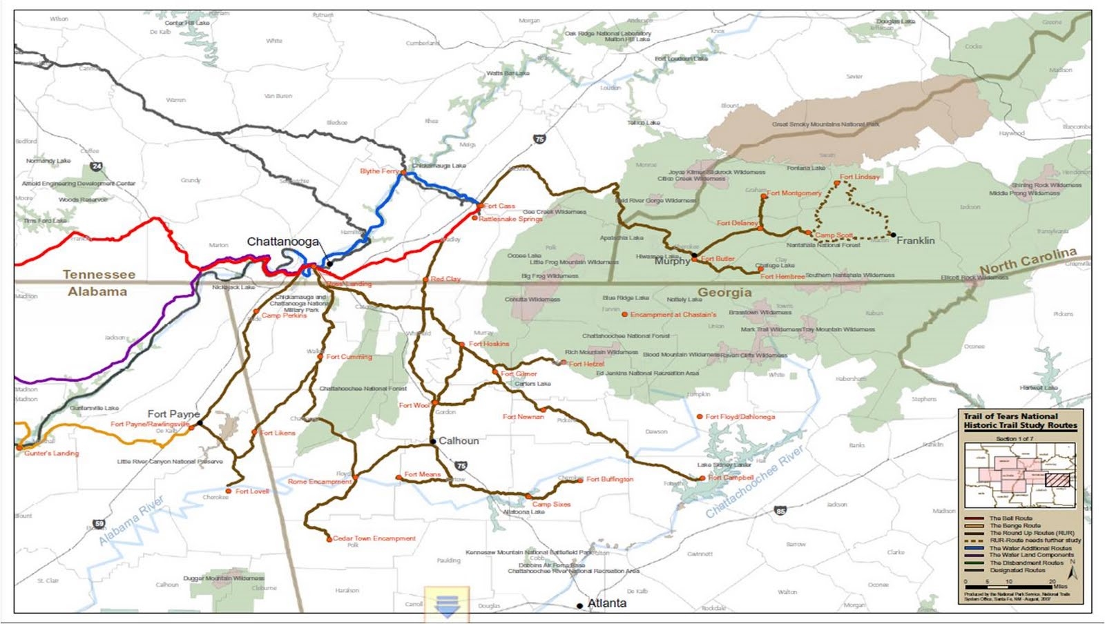 the trail of tears the latest maps