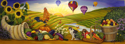 Nature's Bounty mural by Wendy Wolfe
