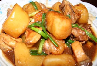 Table for 2 or more chinese style potato chicken hor lan shu chinese style potato chicken recipe forumfinder Image collections
