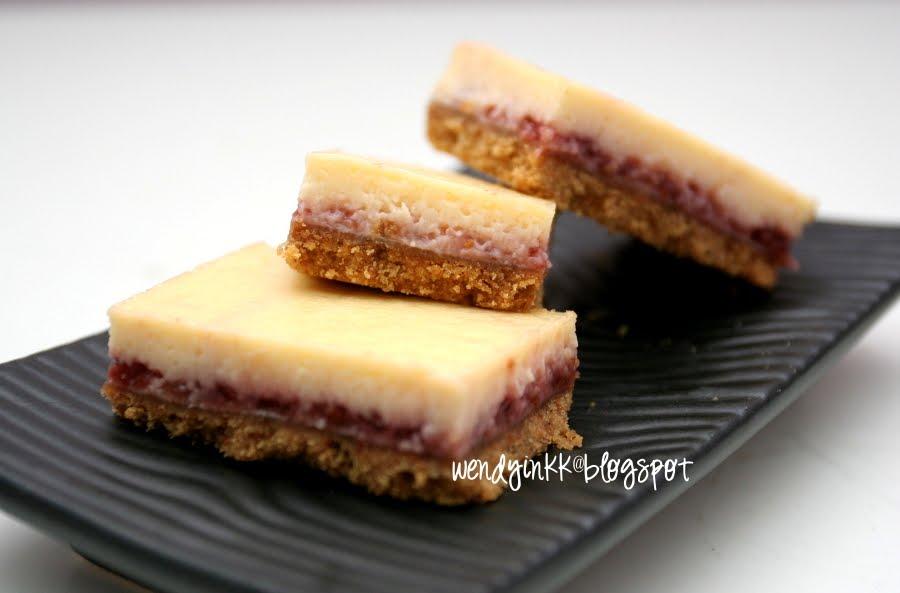 Raspberry Lime Cheesecake Bars
