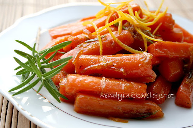 Braised Carrots with Orange and Rosemary - Fruit Week # 4