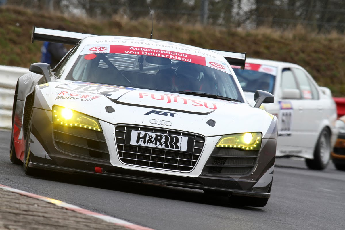 Seven audi r8 lms cars to race nürburgring 24 hours