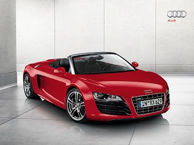 Audi R8 V10 Spyder Blue. 2011 Audi R8 V10 Spyder