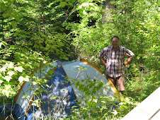 Dave taking down the tent