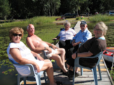 Relaxing on the dock at Deer Lake