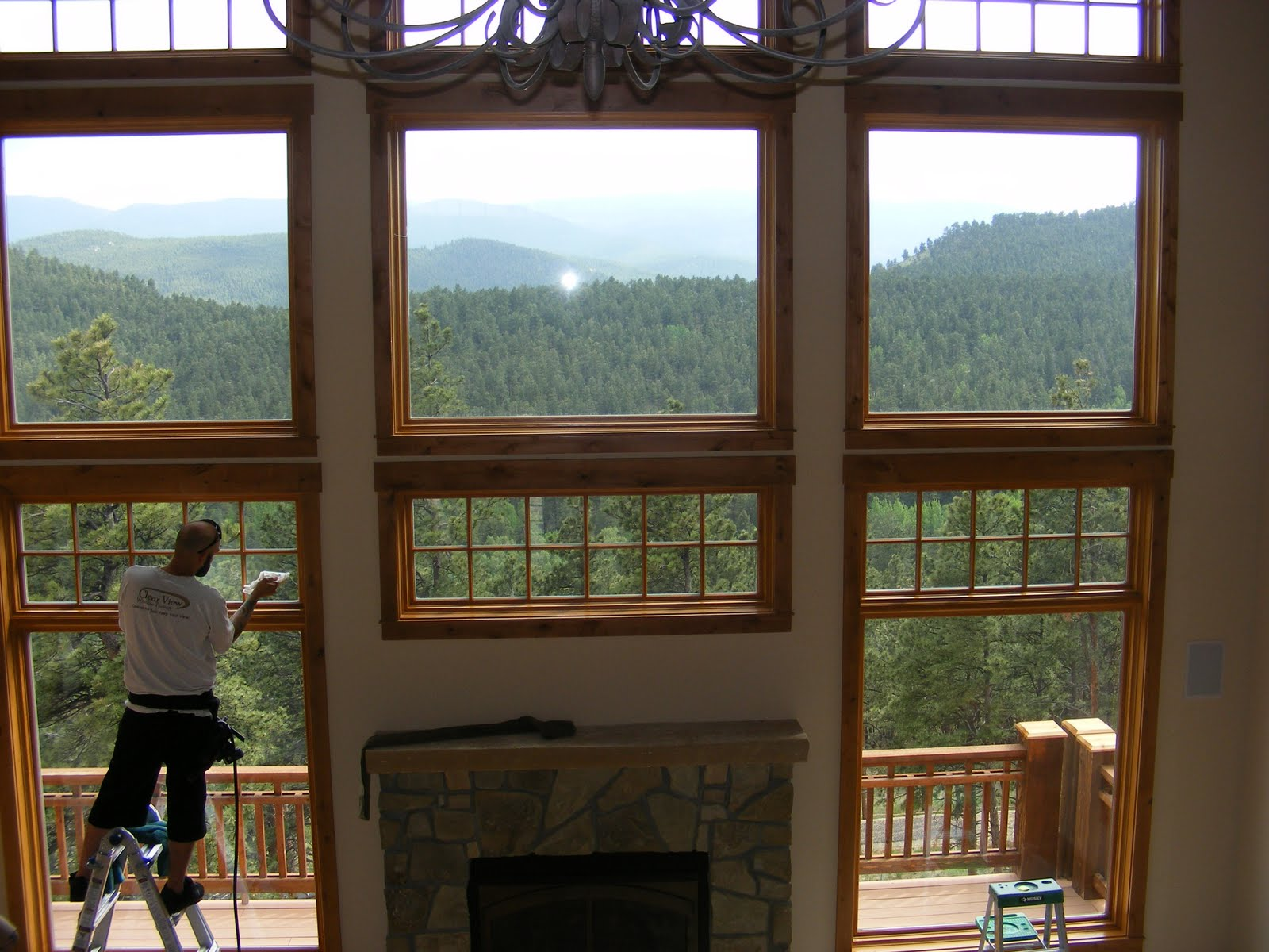 clear view window films evergreen home selects geo shield film for sun protection. Black Bedroom Furniture Sets. Home Design Ideas