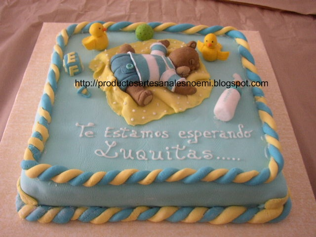 Tortas baby shower niño - Imagui