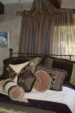I designed new bedding & drapery for my Laguna Client's bedroom