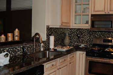 Repainted Kitchen Cabinets-OC client