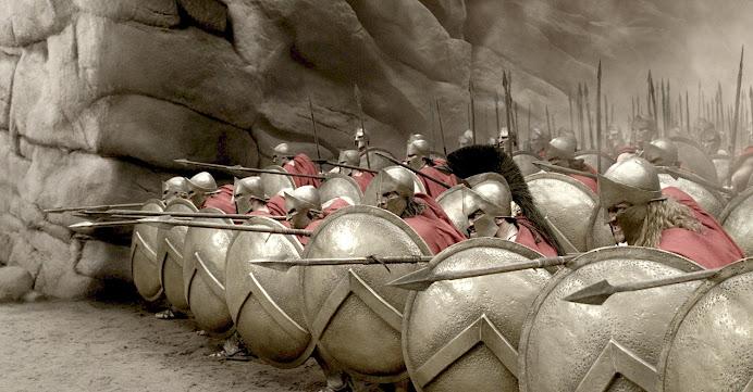 Los espartanos.
