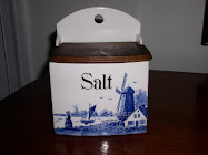 A Decorated Blue Salt Box...