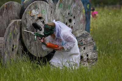 wedding wedding planning , The+Paintball+Bride+1