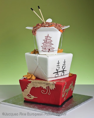 Chinese Take-Out Wedding Cake
