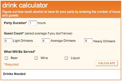 The Wedding Gift Calculator : Wedding Drink Calculator - Austin Wedding Blog