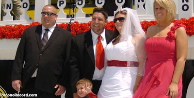 pocono 500 race wedding