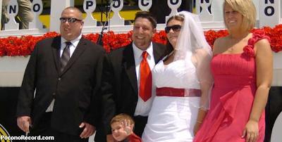pocono 500 race wedding