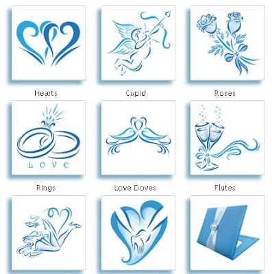 Cool Blue Tattoos for Your Wedding