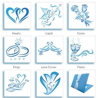 blue tattoo for wedding idotattoos.com
