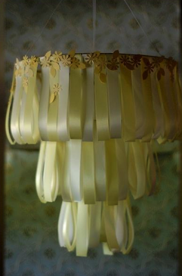 DIY Wedding Cake Chandelier