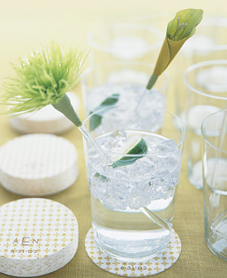 flower swizzle sticks Add some zest to your reception by adding these
