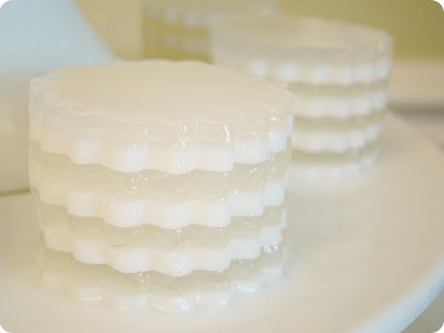 wedding dessert bar The white biscuit sticks with pearls layered jelly