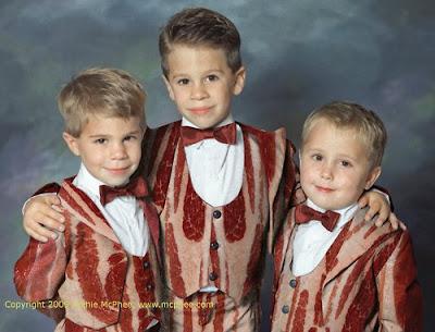 bacon wedding ring bearers