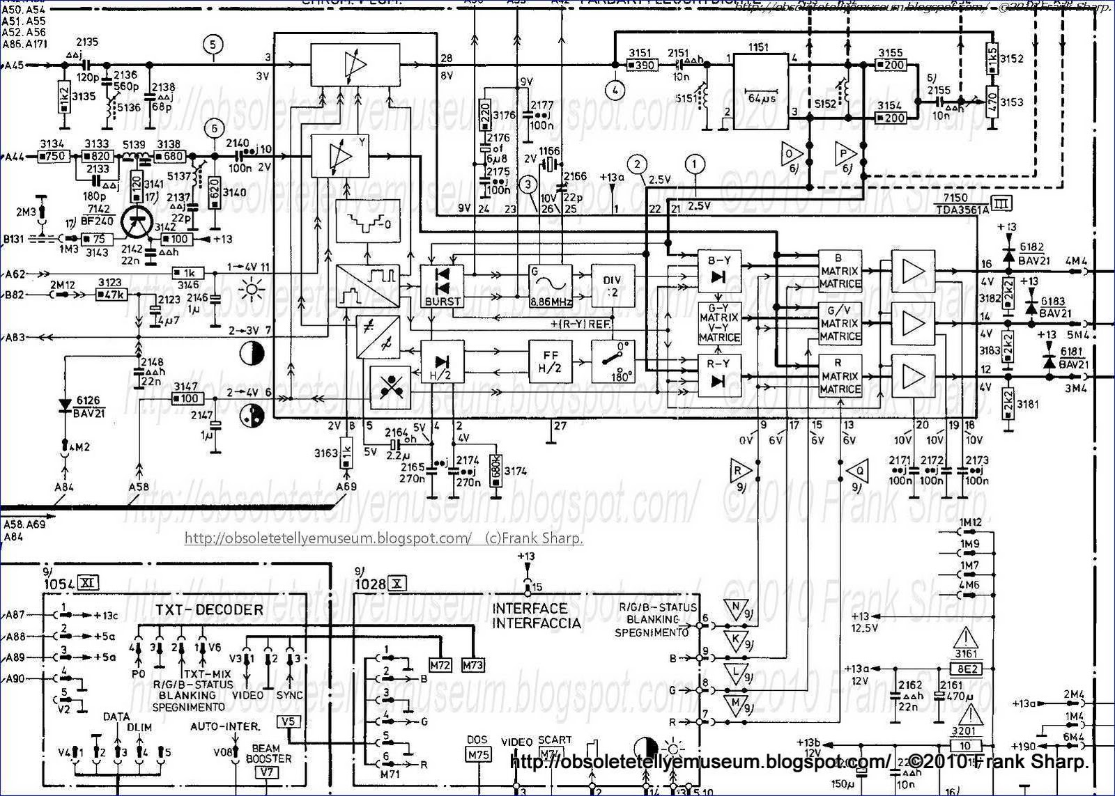 Obsolete Technology Tellye Philips 22cs5755 08r Chopin Chassis K40 Wiring Diagram Free Picture Schematic Internal View Deflection Board On The Right Called Large Signal Line Output Bu508a Eht E W
