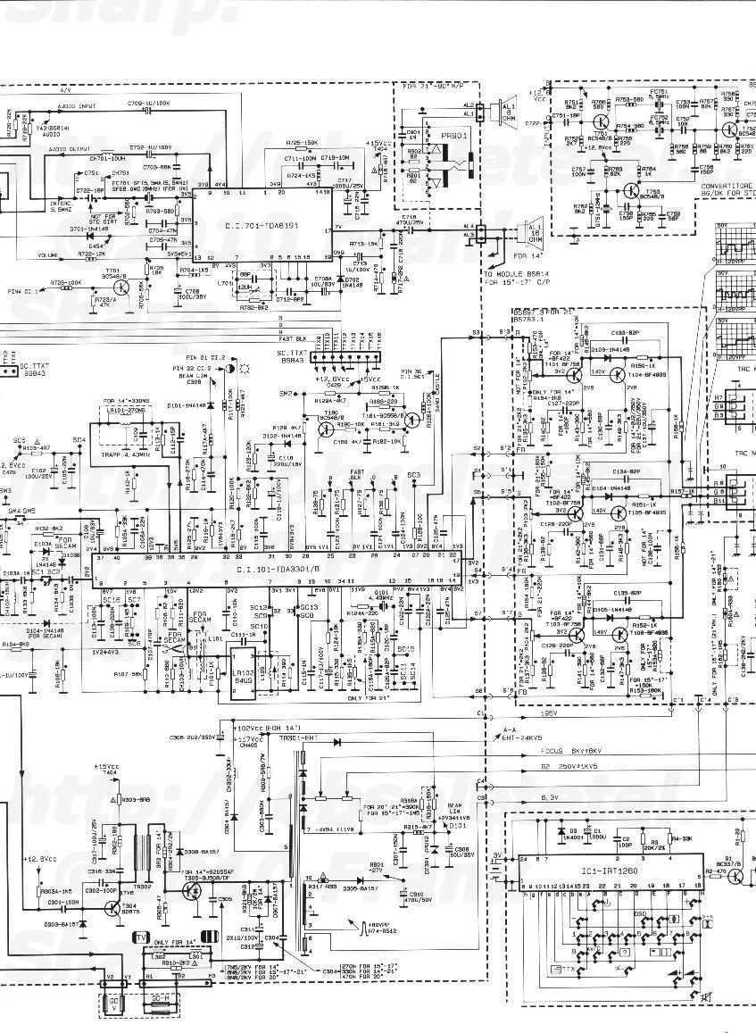 obsolete technology tellye    rex  zanussi  21rm429 chassis bs700 4 internal view