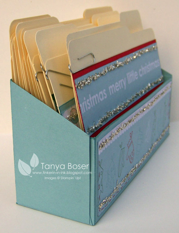 tinkerin in ink with tanya mini file folder and box