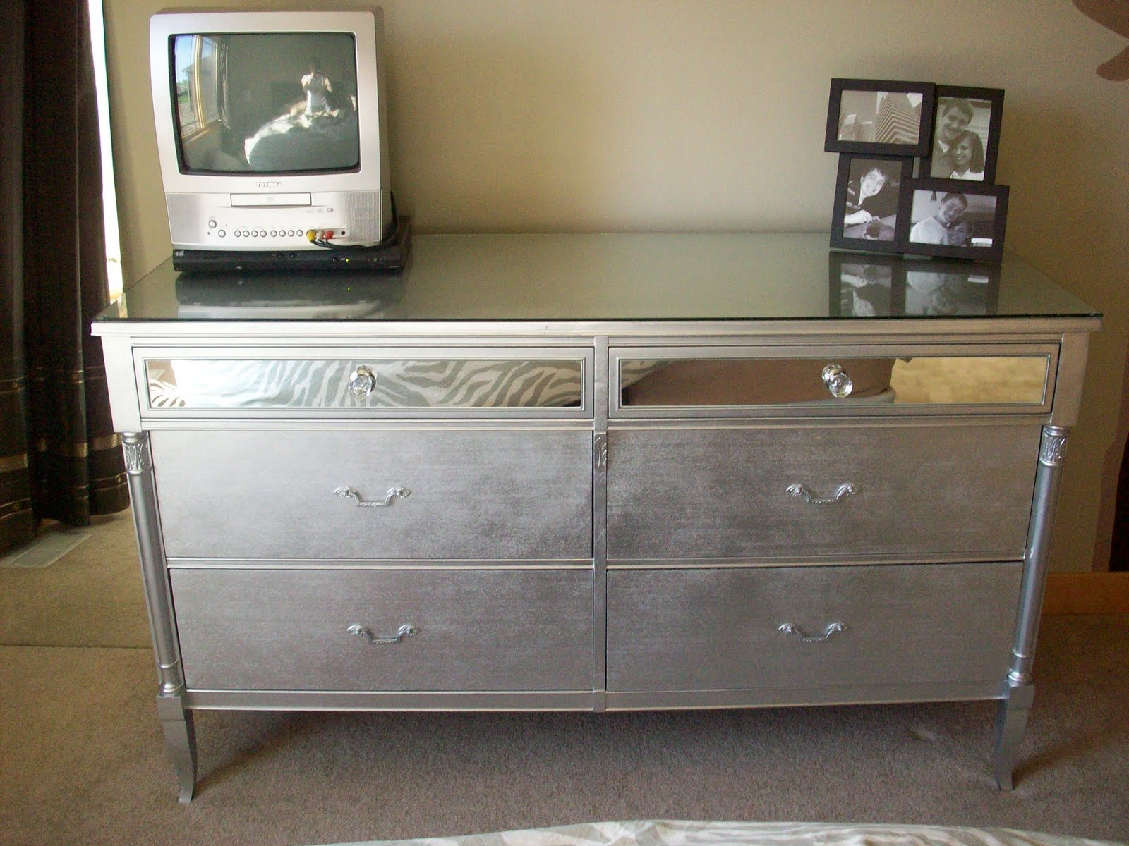 Marvelous Spray Paint Furniture Ideas Part - 8: Drab To Fab Dresser: Before And After