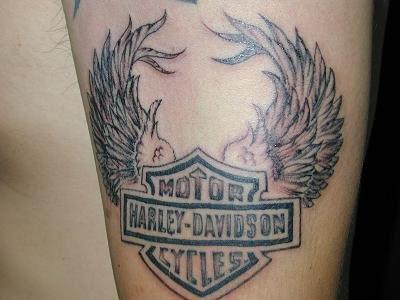 Harley Davidson Logo Tattoo Design