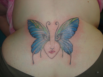 Butterfly Angle Tattoo