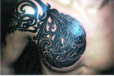 Balinese Carving Tattoo Design