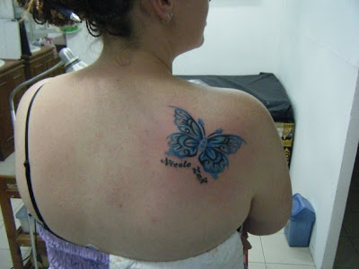 Blue Butterfly Tattoo Design 7 sun design tattoos tattoo designs for teens