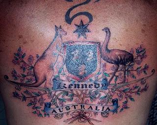 Australia Kangaroo Goose Tattoo