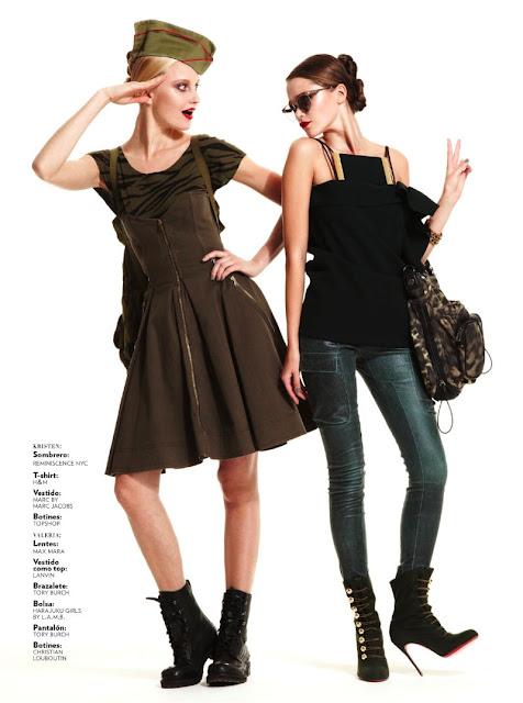 Kristen y Valeria para Glamour Mexico
