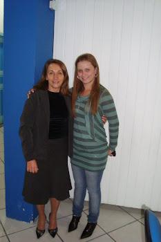 Minha esposa e a irmã e empresária YTA.