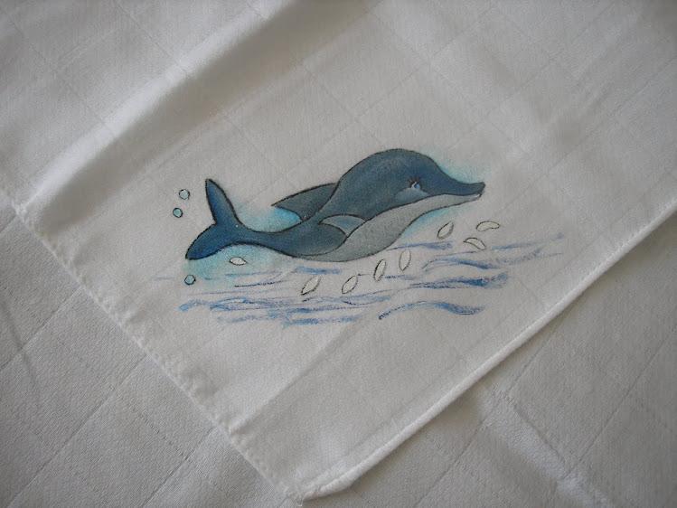 Fralda com golfinho
