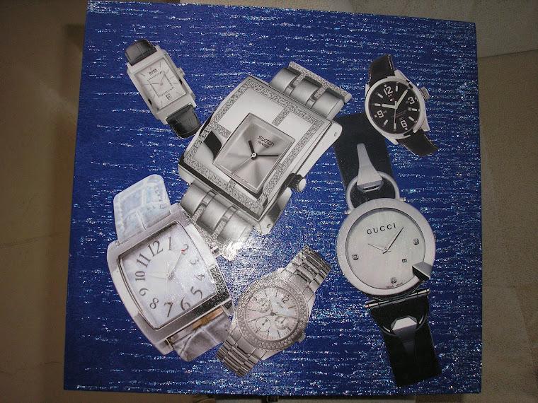 Caixa de relógios azul