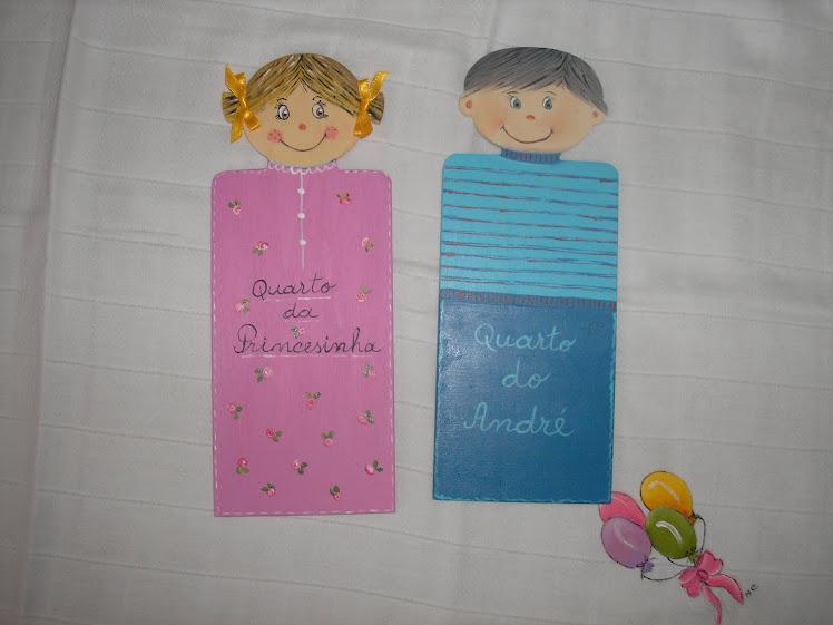 Placas para quarto de criança