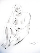 Life drawing in pencil and willow charcoal