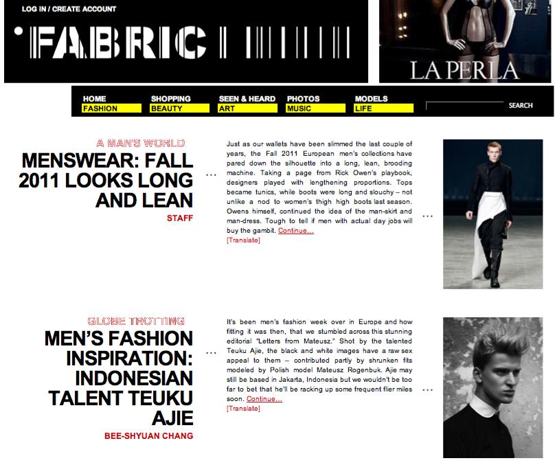 Teuku Ajie Blog Fabric Men 39 S Fashion Inspiration