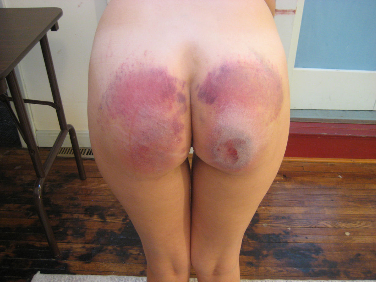 Spanked bottoms