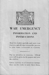 Civil defence, public information leaflet, Second World War, World War Two, World War 2, WWII, History, Home Front