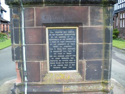 Queens park Clock inscription