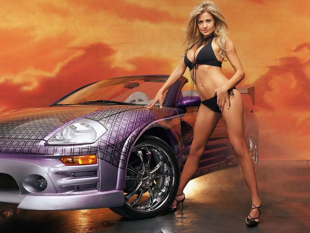 cool cars and hot girls